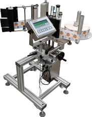Series S1000 Labelers - Roll Up Label Head & Touch Screen - Automatic Pressure Sensitive Labeling Machine