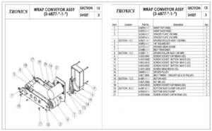 CAD Drawing and Parts List of Wrap Belt Module.