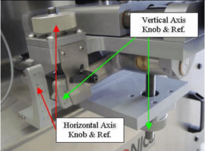 Label Head with 4-Axis Pitch-N-Roll Adjustment